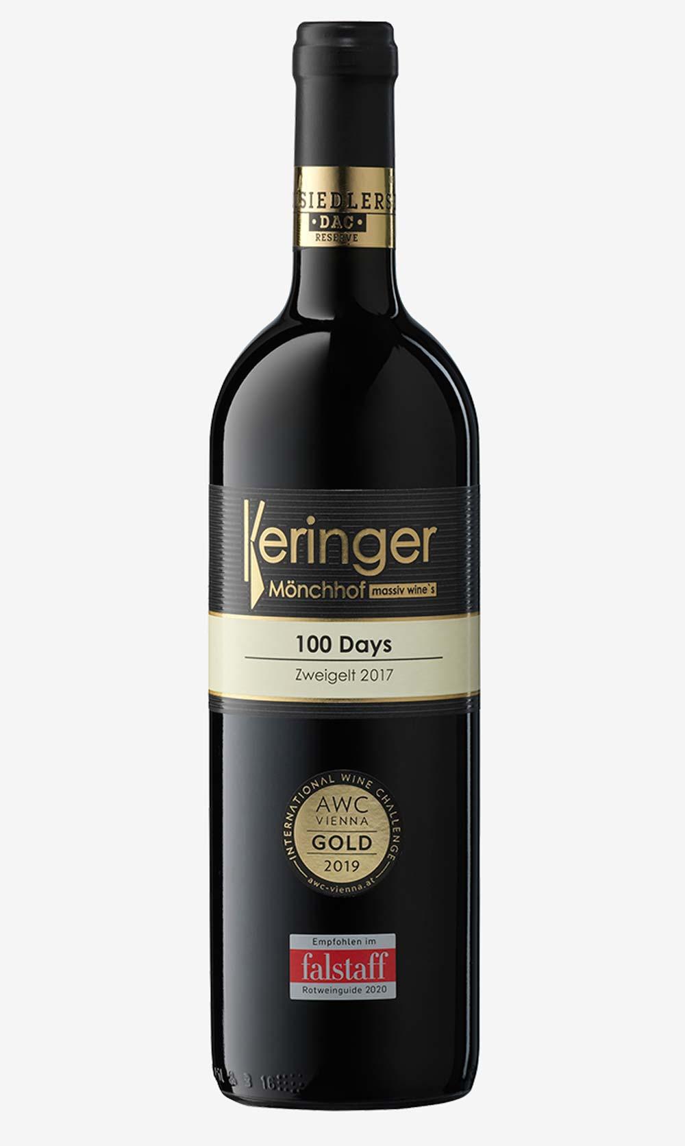 100 Days Zweigelt Weinflasche Keringer