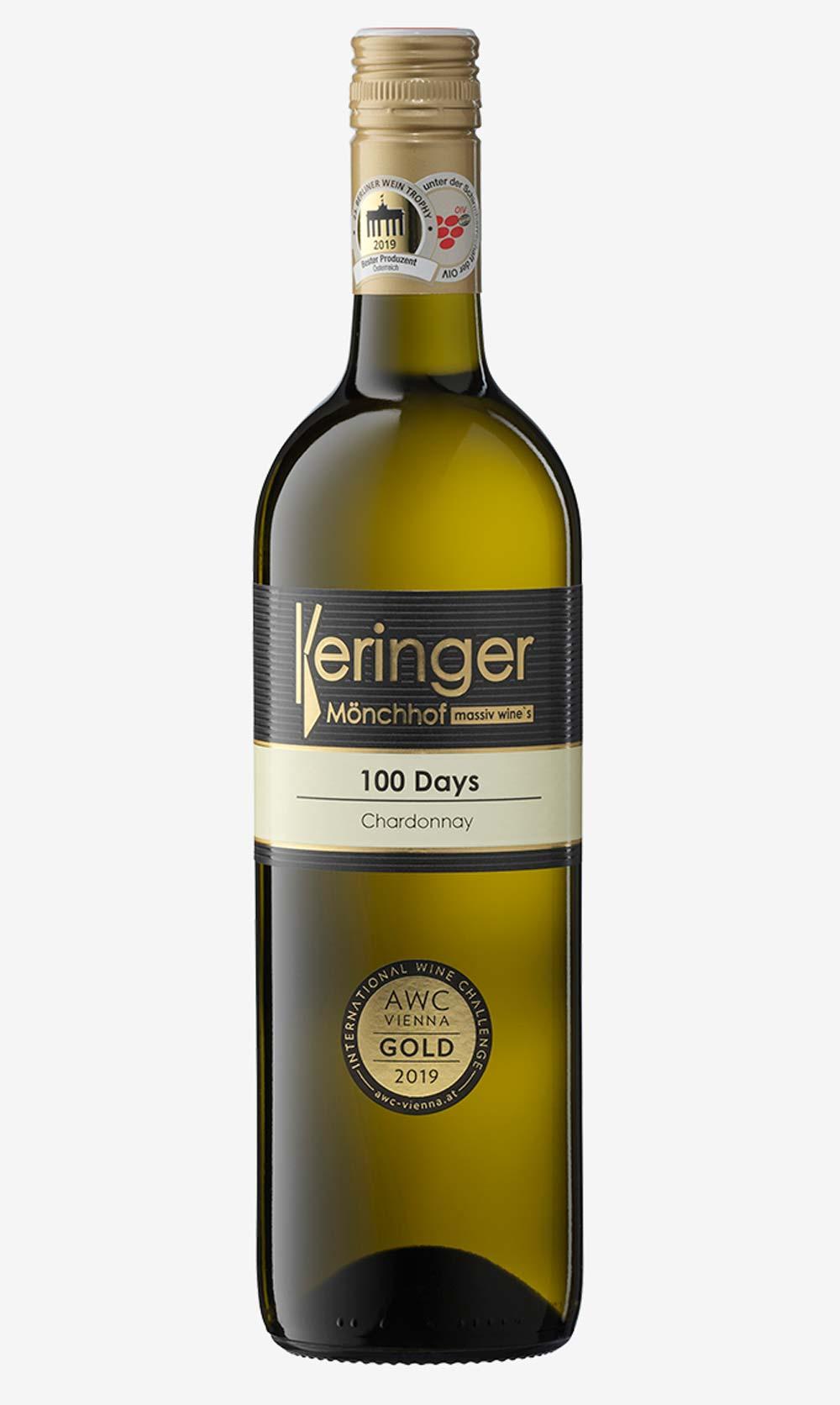 100 Days Chardonnay Weinflasche Keringer