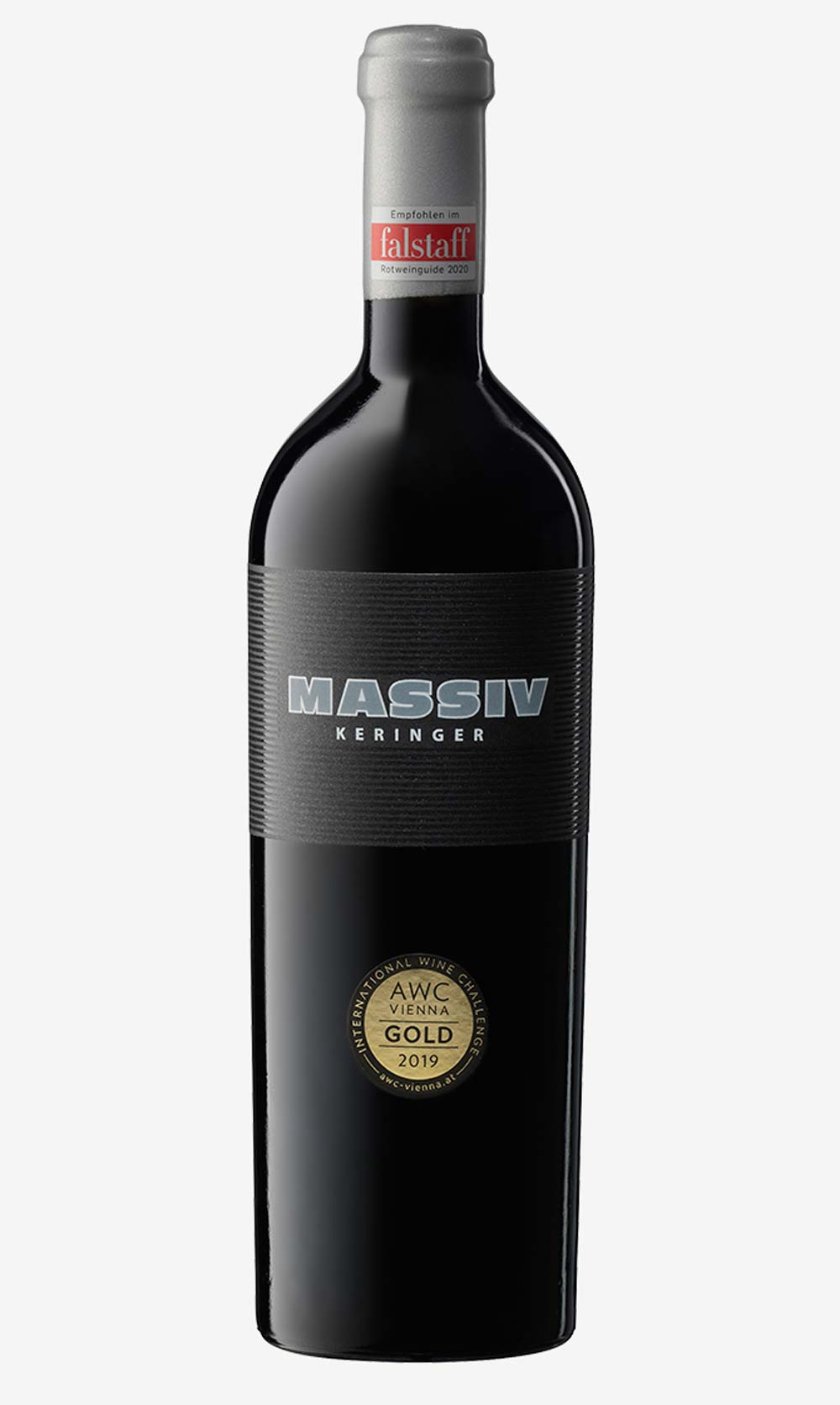 Weinflasche Keringer Massiv Rot
